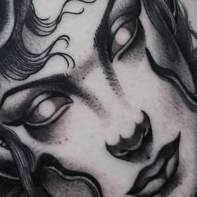 Black and Gray Medusa Tattoo Tattoo Design Thumbnail