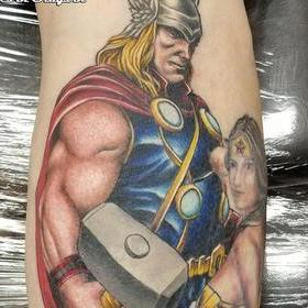 Color Thor Tattoo Tattoo Design Thumbnail